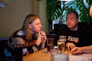 xandy und maha am Stammtisch in Bamberg