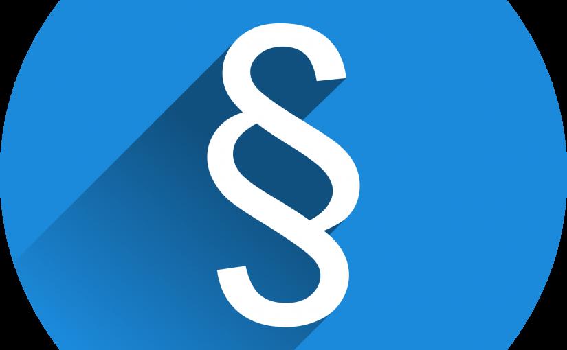 Weißes § auf blauem Kreis (Symbolbild)