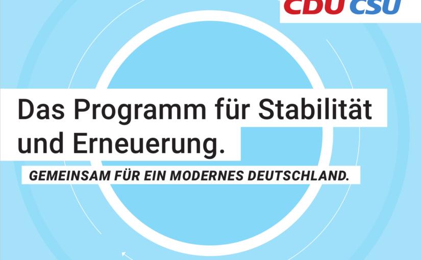 Folge 166: Klimaprogramme: CDU/CSU